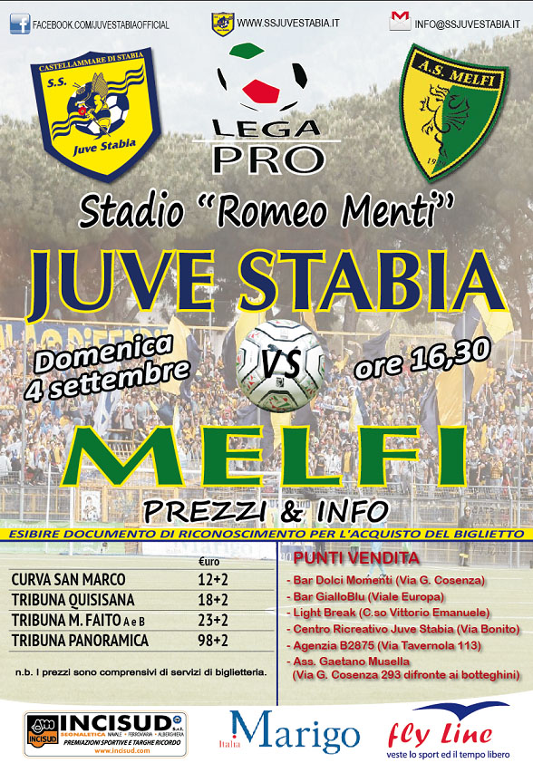 locandina Juve Stabia-Melfi