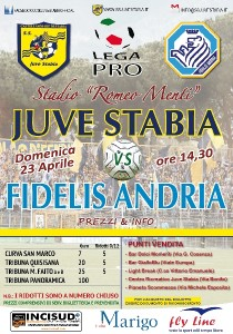 Locandina Juve Stabia-Fidelis Andria