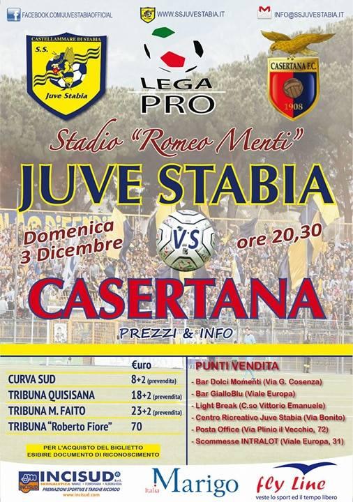 Juve Stabia-Casertana locandina
